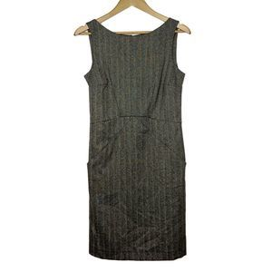 Zara Basic Herringbone Pocket Shift Dress S